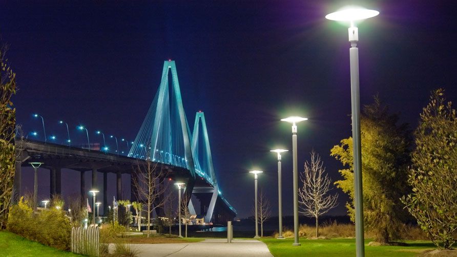 View of the Cooper River Bridge from Waterfront Park, Mt. Pleasant, SC